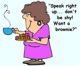 Maa-Maw and her brownies.